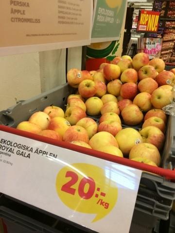 ekologisk frukt