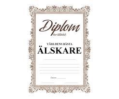 Diplom för världens bästa älskare