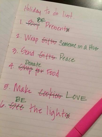 Julens bestyr byts ut mot genuint viktiga saker- kärlek