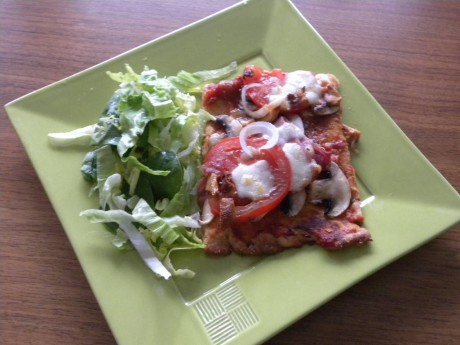 Egengjord god lchf pizza