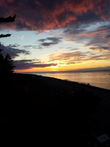 Solnedgång på Hallshuk Gotland