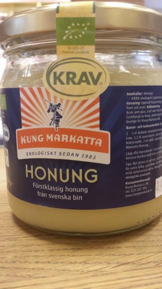 KRAV-märk ekologisk Honung från KUNG Markatt i glasburk