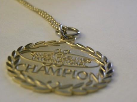 Champion medalj för mästerskapen i Barbershop 2013