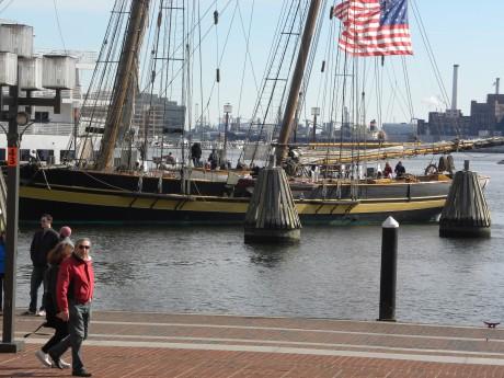 Ett skepp i hamnen i Baltimore USA