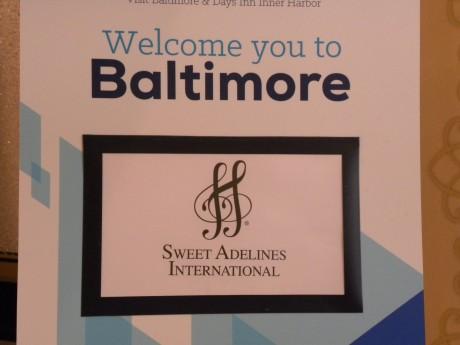 Välkomstskylt: Velcome to Baltimore
