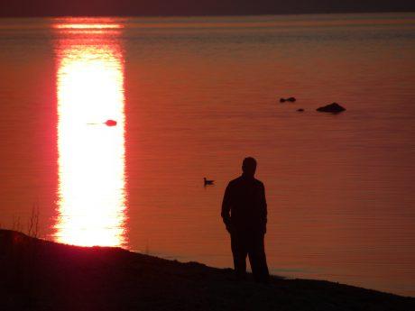 Solnedgång, Hallshuk Gotland
