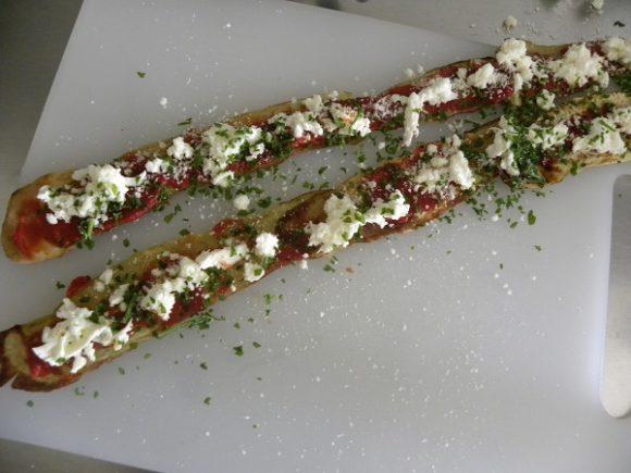 Aubegineskivor med mozzarella
