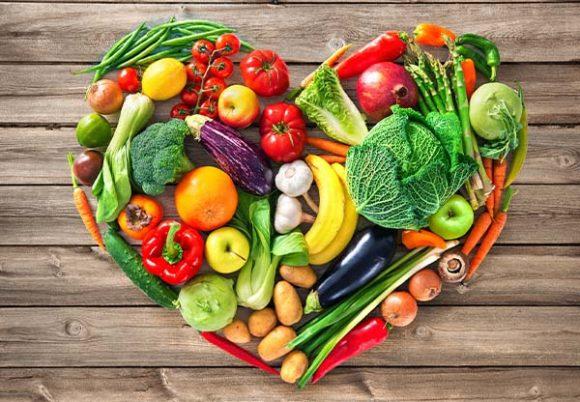 hjärta med grönsaker