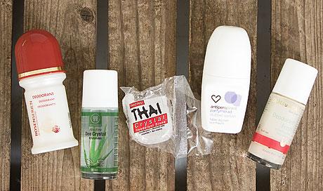 Kurera testar deodoranter