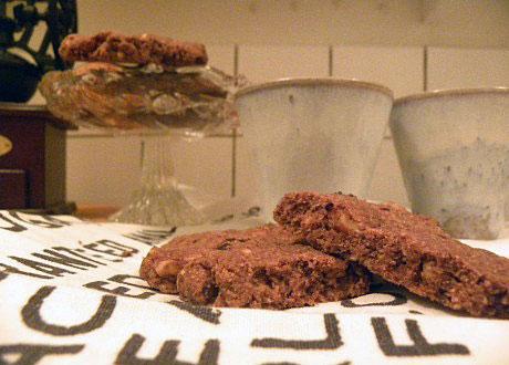 Chokladkakor på handduk