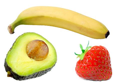 avokado banan jordgubbe