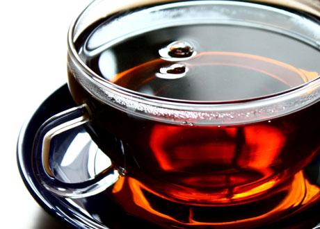 Närbild på en kopp te