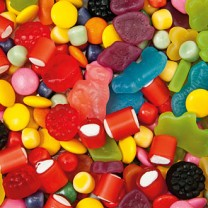 Färgglatt godis