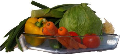Grönsaker i glasform