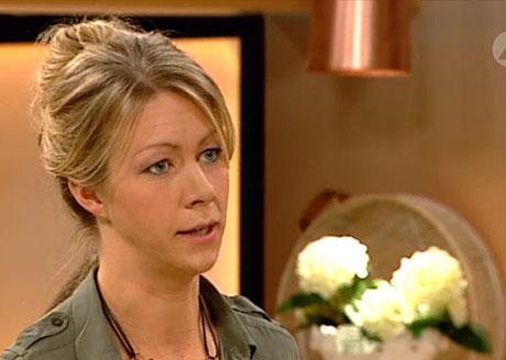 Kristina Andersson i närbild från inslaget