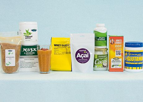 Bilder på de nämnda produkterna