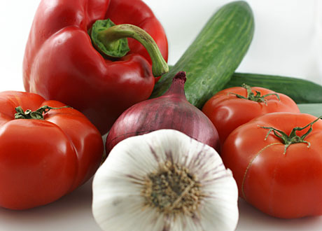 Tomater paprika vitlök rödlök