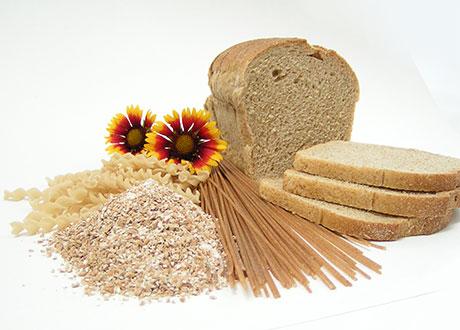 Vitt bröd, pasta och vetemjöl