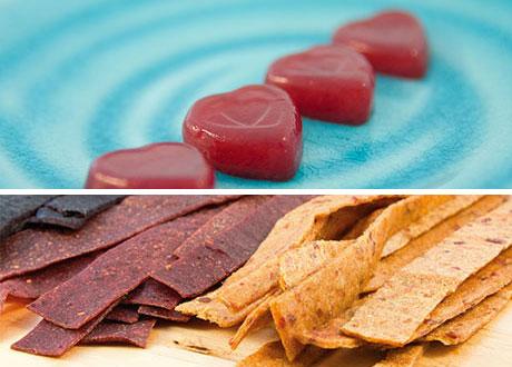 Geléhjärtan och fruktremmar
