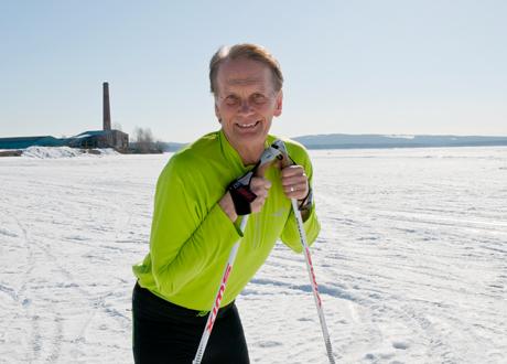 Peter Wilhelmsson på skidor