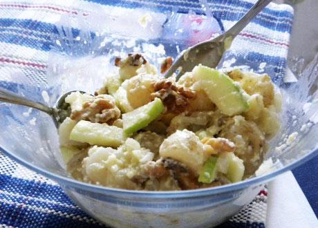 Mias mat- och bakblogg Potatissallad med äppeldressing