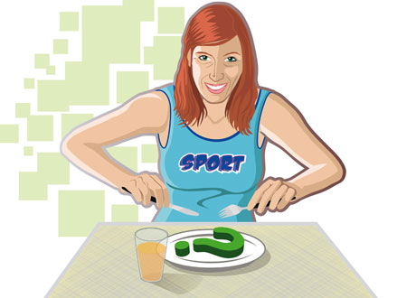 Teckning av kvinna som sitter och äter