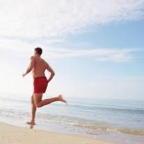 Manlig löpare