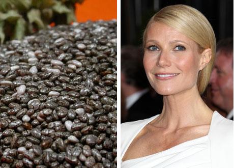 chiafrön och Gwyneth Paltrow i kollage