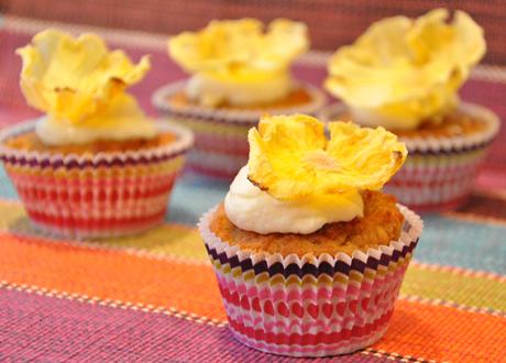 Kokos och ananas cupcakes