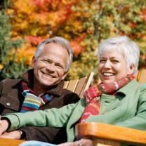 Glatt äldre par