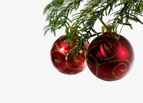 Julkulor i granen