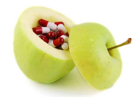 Äpple med piller i
