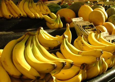 Bananer på hög