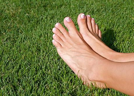 Ett par fötter