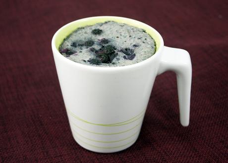 Mug Cake LCHF Blåbär, vanilj