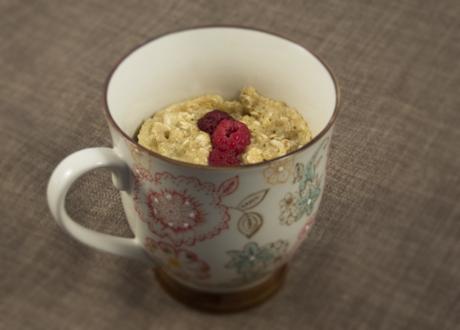 Mug Cake Havre-hallon