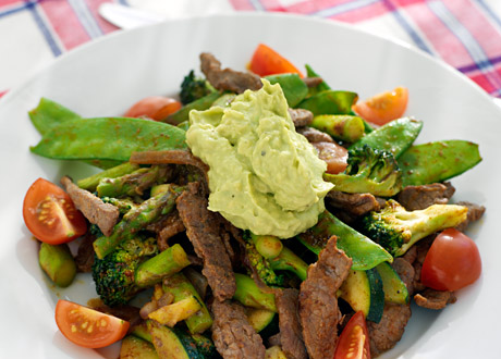 5:2-recept: Tacolövbiff med guacamole