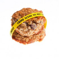 Kaka med varningstext