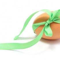 Ett ägg med presentband runt