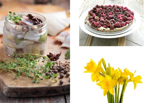 Påskbuffé 3: Recept på olika sorters sill och påskens godaste dessert