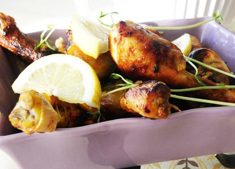 Recept på het kyckling med citron och saffran