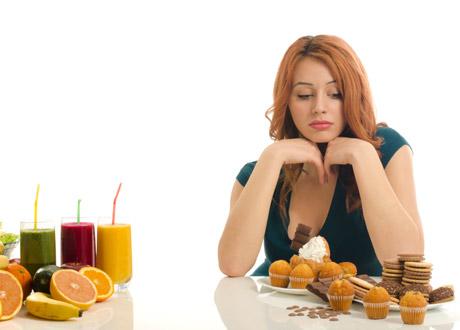 Ledsen kvinna med socker