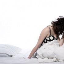 Kvinna som inte kan sova