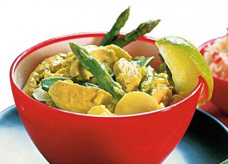 Kyckling i grön curry