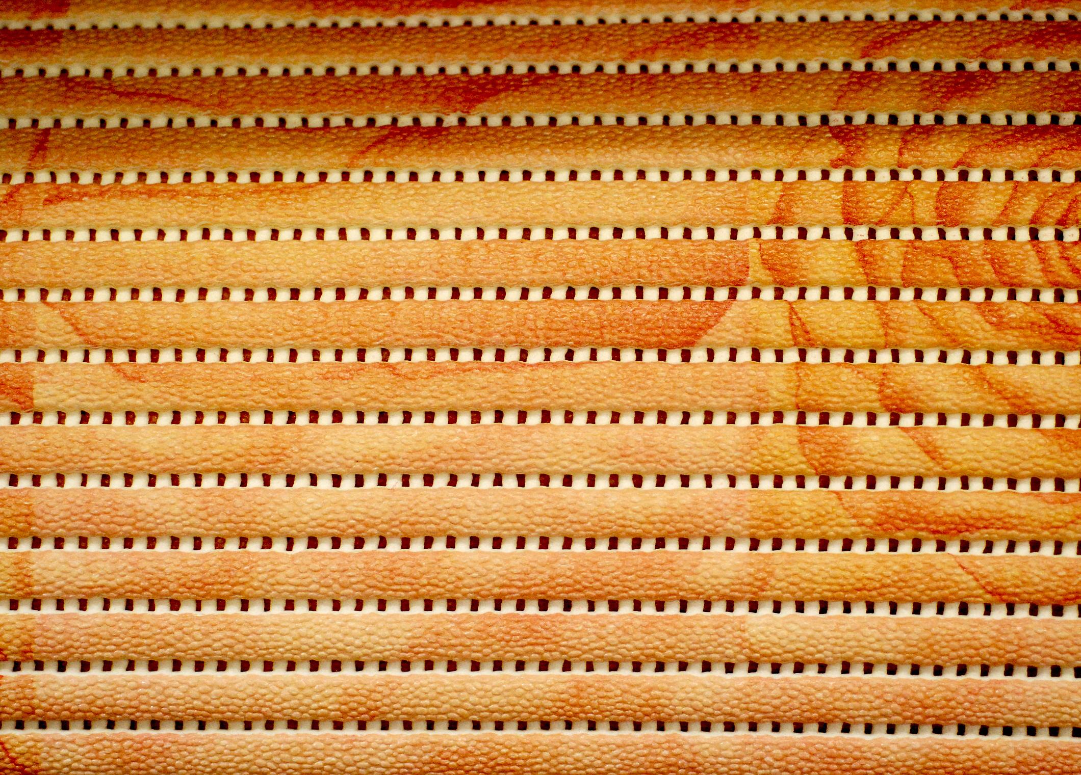 Orange våtrumsmatta
