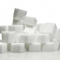 Sockerbitar staplade på varandra
