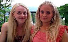 Jessica och Lovisa Forsman skriver bloggen Hälsosammare vardag närbild utomhus
