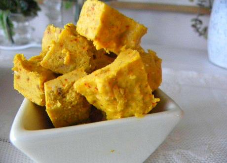 Raw saffran- och citronfudge