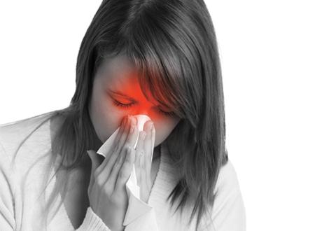 bihåleinflammation utan täppt näsa