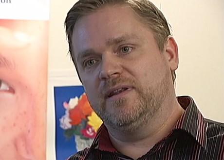 Rolf Forslund i inslaget från SVT